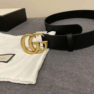 Gucci Black Marmont 1.5 Inch GG
